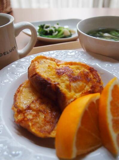 みかん風味のフレンチトースト