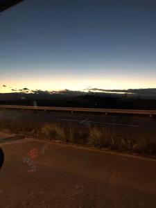 前橋からの帰り道に見た夕空。お話会を無事に終えられ、清々しい気持ちでいっぱいでした。